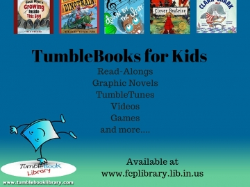 Remember to Check out TumbleBooks for Kids!