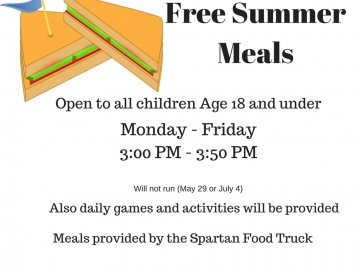 Free Summer Meals (18 and under)