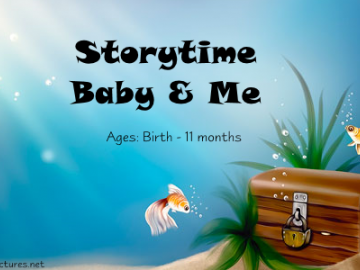 Baby & Me Storytime August 25@ 11:00 AM - Sign Up today!